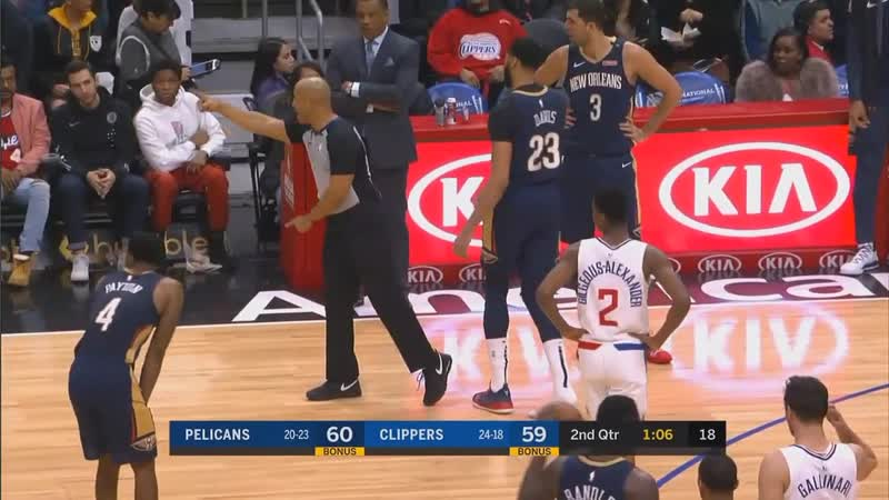 Patrick Beverley Steals Anthony Davis Shoe Then Gets A Technical Foul!