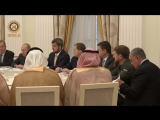 Принял участие в встрече  Владимира Путина с  Наследным Принцем КСА шейхом Мухаммед бен Салманом.