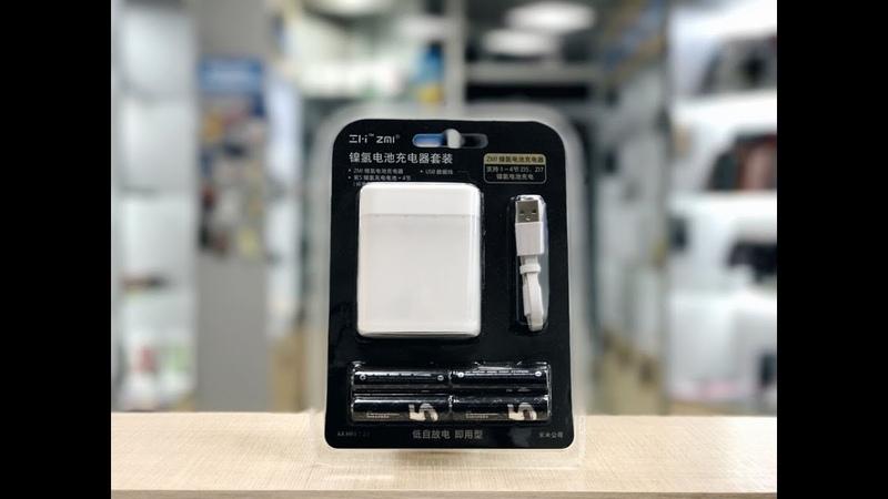 Зарядное устройство Xiaomi ZMI PB401 в комплекте с аккумуляторами AA