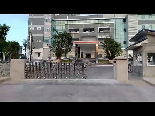 Cổng xếp tự động lắp tại Bệnh Viện ĐK Phương Chi, Bình Dương