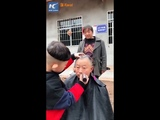 6-year-old boy a skilled hairstylist in Sichuan, China