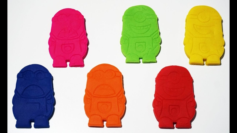 Learn colors with Play Doh minions
