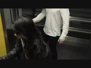 Camila Cabello and her boyfriend Matthew Hussey outside the ArcLight Theatre in Hollywood
