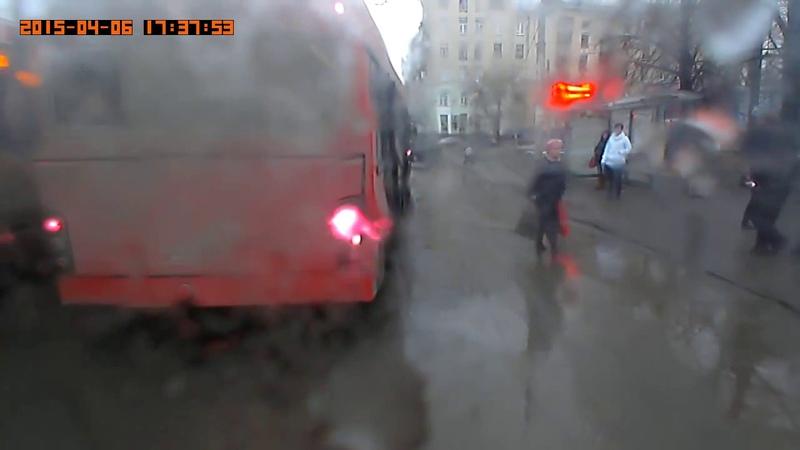 Троллейбус номер 13 город Казань . авария