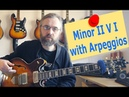 How to improvise over a minor II V I with arpeggios - Jazz Guitar Lesson