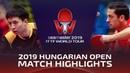 Fang Bo vs Marcos Freitas | 2019 Hungarian Open Highlights (R32)