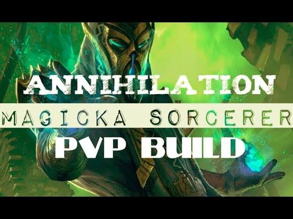 Magicka Sorcerer PVP Build - Annihilator - ESO Summerset Wolfhunter