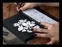 Caixa com papel textura e molde vazado