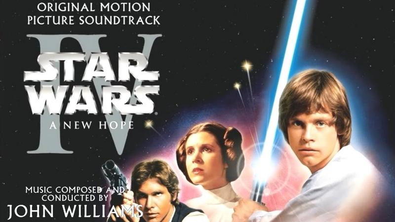 Star Wars Episode IV A New Hope (1977) Soundtrack 02 Main Title / Rebel Blockade /Runner Medley