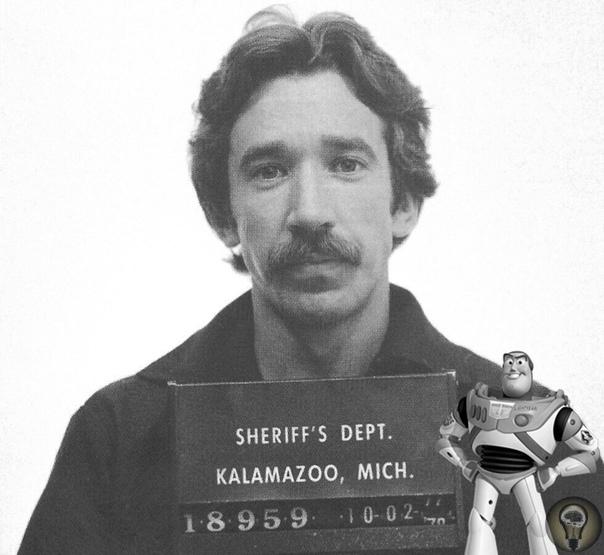 Тим Аллен, известный тем, что озвучивал Базза Лайтера в Истории игрушек, в 1978 году попался властям с килограммом кокаина