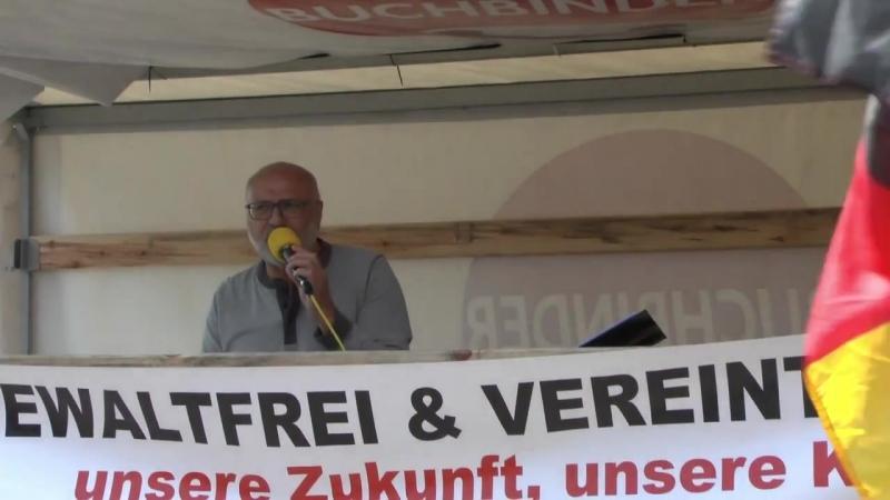 Politische Bildung mit Ernst Cran bei PEGIDA am 01. Mai 2018 in Fürth