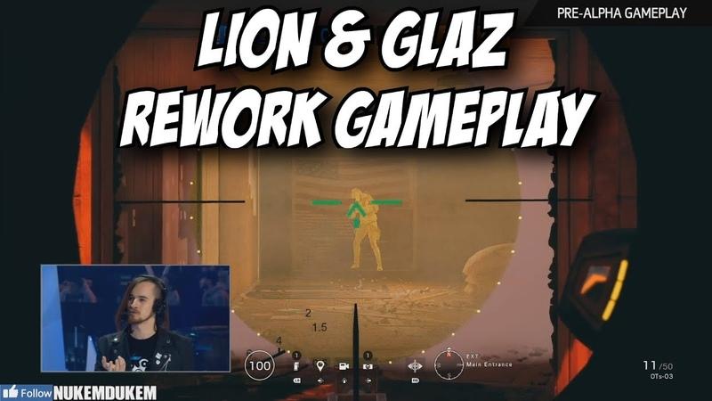 R6 Lion Glaz Rework Gameplay New See Through Deployable Shield! Rainbow Six Siege