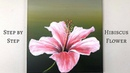 ColorbyFeliks Step by Step Hibiscus Flower Acrylic Painting on Canvas