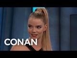 Anya Taylor Joy's Awkward On-Screen Kiss With James McAvoy - CONAN on TBS