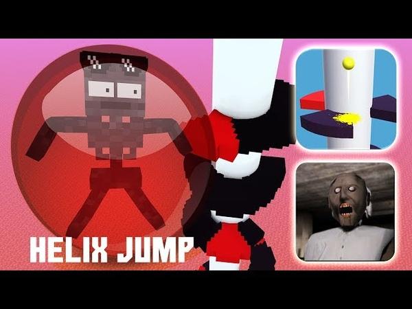 Monster School HELIX JUMP VS GRANNY CHALLENGE Minecraft Animation