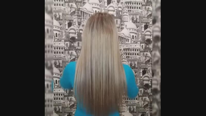 люкс славянка на тонкие волосы