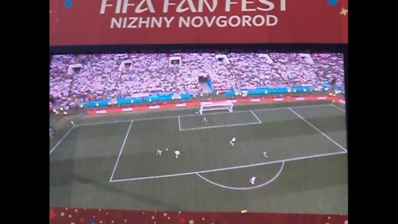 Гол сборной Мексики в ворота сборной Германии!..FIFA FAN FEST...17/0618