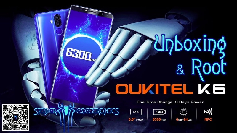 Oukitel K6 | Unboxing | Root | SergSpider review | SpiderChannel | FullHD |