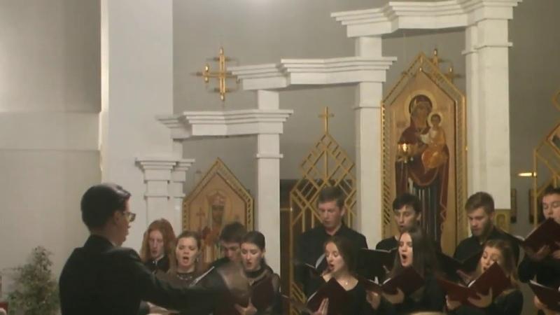 Святий боже святий кріпкий Артемій Ведель хор Sine Nomine храм Святого Василія 3 11 2017