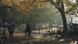 AN AUTUMN MORNING BICYCLE RIDE through AMSTERDAM