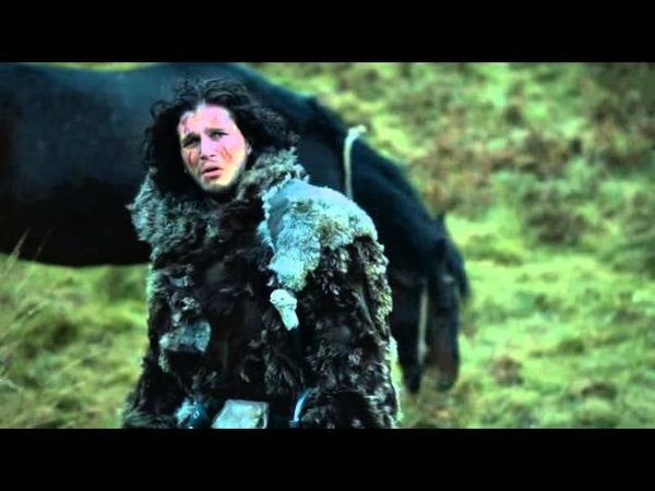 Games Of Thrones Ygritte shoots John Snow 3 times with arrows s03e10