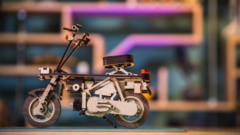 Show and Tell: Laser-Cut Sixth-Scale Scooter!