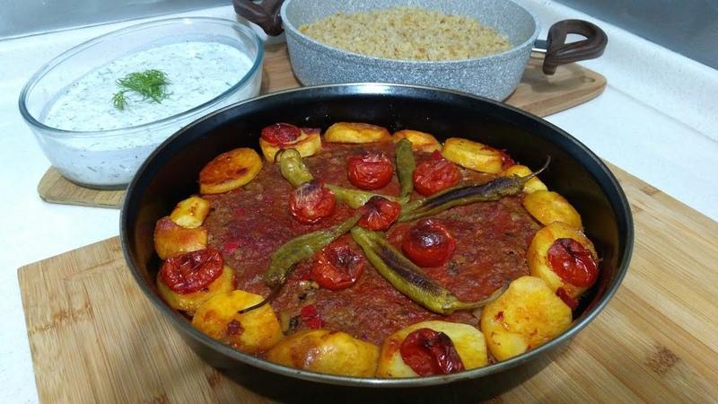 Kilis Tava İle Kolay Akşam yemeği Menüsü Kilis TavaŞehriyeli Bulgur PilavıCacıkSeval Mutfakta