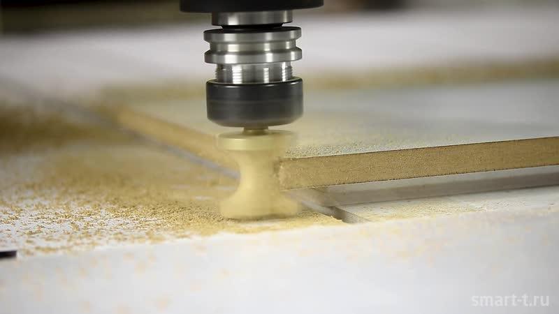 Обработка кромки фрезой катушка на фрезрном станке с ЧПУ Volter