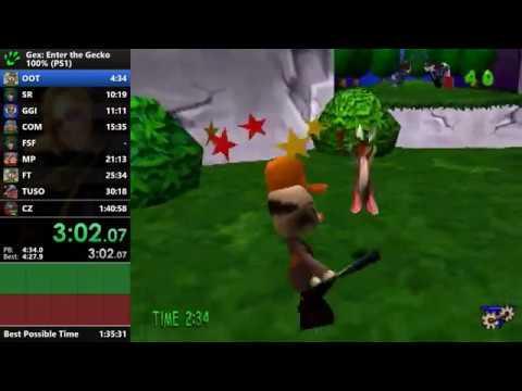 Gex: Enter the Gecko - 100% Speedrun - 1:38:32 [WR]