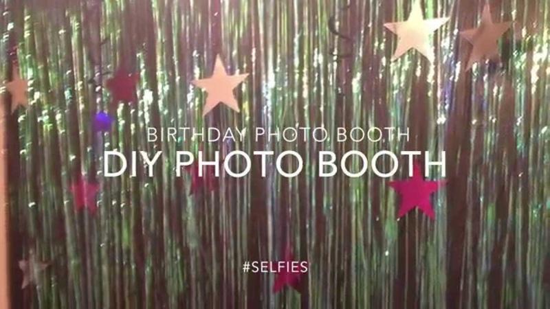 DIY birthday photo booth