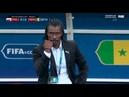 Coach Senegal Celebration Selebrasi Pelatihan Senegal Vs Polandia 2 1