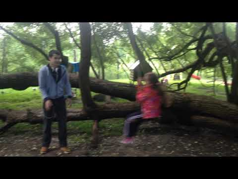 Филипп катает Соню на тарзанке - 2015-07-12