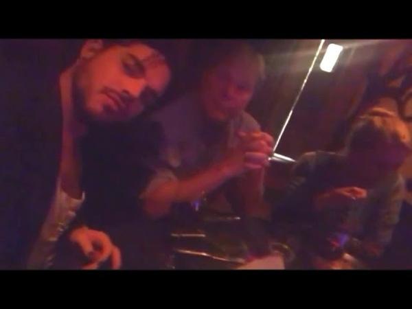 Adam having dinner with his dad, November 10