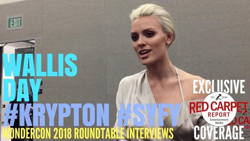 Wallis Day, Nyssa Vexx, talks about SYFY's Krypton at WonderCon Roundtable