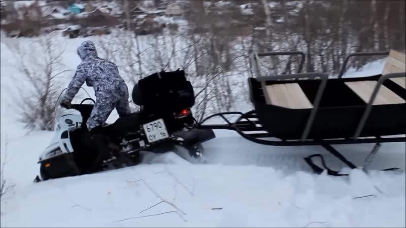 Сани для снегохода Царек.