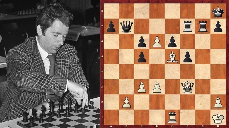 Шахматы. Борис Спасский жертвует пешки направо и налево!