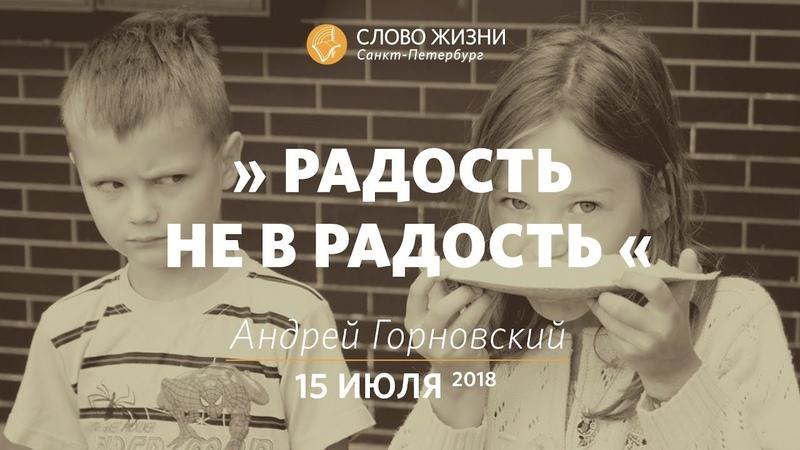 Радость не в радость - Андрей Горновский, Слово Жизни, г. Санкт-Петербург