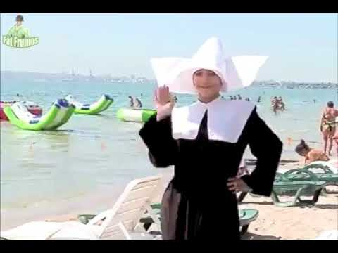 (7) Nun goes to the beach.. Rahibe plaja giderse.. - YouTube