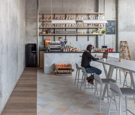 Grzywinski Pons pairs industrial fixtures with pastel tones for Urban Villa hotel lobby