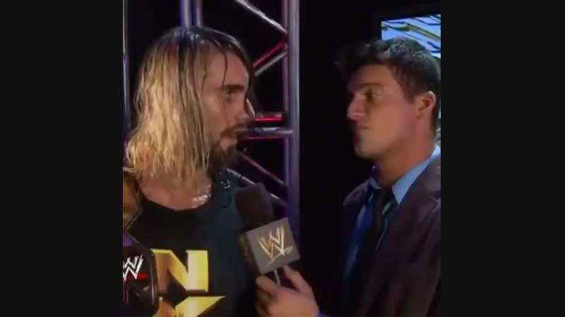 |WM| Сет Роллинс и См Панк за кулисами NXT 2012