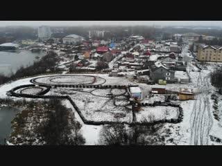 Mavic Air, ноябрь, оз. Бутыгино, Архангельск