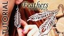 DIY tutorial wire wrapped earrings kolczyki pióra boho wire wrapping