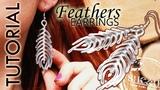 DIY tutorial wire wrapped earrings, kolczyki pi