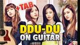 BLACKPINK DDU-DU DDU-DU (fingerstyle guitar cover tutorial wtabs)