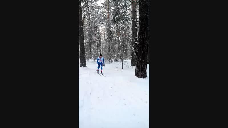 Чемпион России по лыжному спорту , наш земляк , Брагин В.Н. на втором этапе кубка Русич