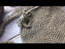 Круглая кросс-боди сумка из льна