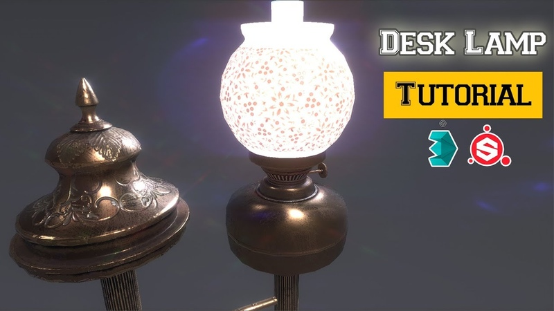 Modeling UV unwrapping and Texturing a Desk Lamp in 3Ds Max