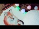 Как нарисовать и раскрасить ЛИСУ цветными карандашами ♡ Секреты и техники карандашей | Katerina Rise