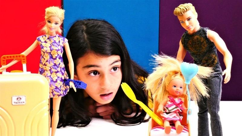 Barbie ile bebek bakma oyunu. Kene yardım ediyoruz!