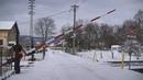 Spoorwegovergang Úštěk (CZ) Railroad crossing Železniční přejezd